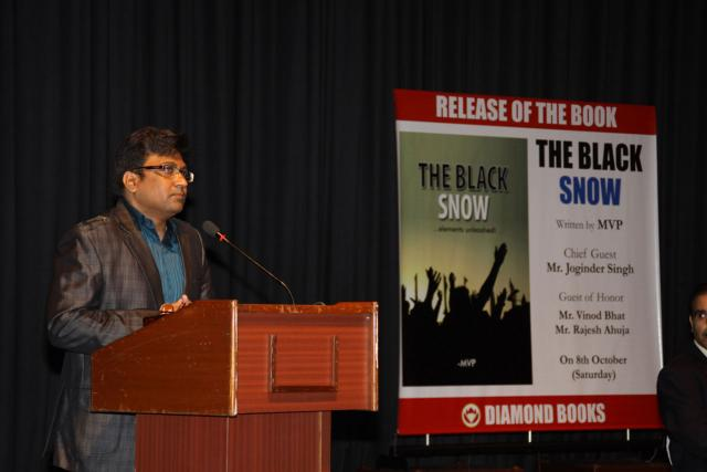 """Book by MVP """"THE BLACK SNOW"""" released on 8th October 2011"""
